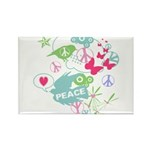 Modern Art Peace Collage Rectangle Magnet (10 pack