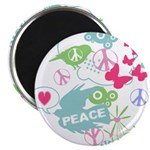 Modern Art Peace Collage Magnet