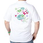 Modern Art Peace Collage Golf Shirt