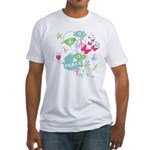 Modern Art Peace Collage Fitted T-Shirt