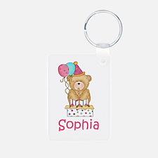 Sophia's Birthday Bear Keychains