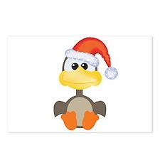 Cute Christmas Goose Santa Postcards (Package of 8