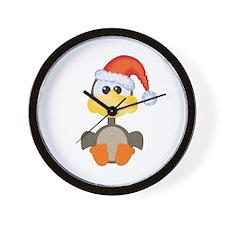 Cute Christmas Goose Santa Wall Clock