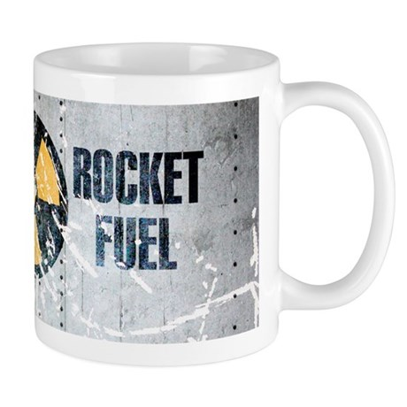Rocket fuel coffee mug grey vintage