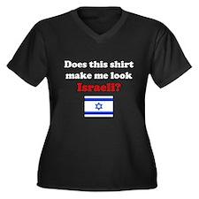 Make Me Look Israeli Women's Plus Size V-Neck Dark