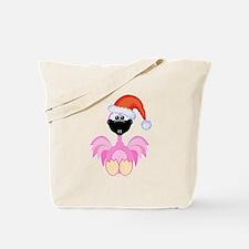 Cute Christmas Santa Flamingo Tote Bag