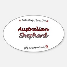 Aussie Shepherd Breathe Oval Decal