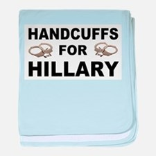 Handcuffs for Hillary! baby blanket