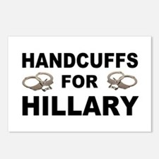 Handcuffs for Hillary! Postcards (Package of 8)