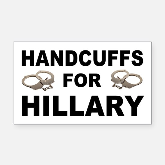 Handcuffs for Hillary! Rectangle Car Magnet