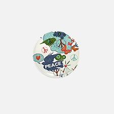 Modern Art Peace Collage Mini Button