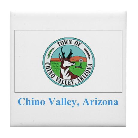 Chino Valley AZ Flag Tile Coaster