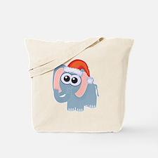Cute Christmas Elephant Santa Tote Bag