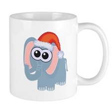 Cute Christmas Elephant Santa Mug