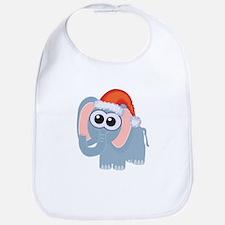 Cute Christmas Elephant Santa Bib