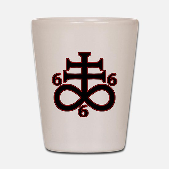 Unique Satanism Shot Glass