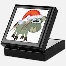 Cute Christmas Donkey Santa Keepsake Box