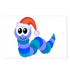 Cute Christmas Caterpillar Santa Postcards (Packag