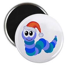 """Cute Christmas Caterpillar Santa 2.25"""" Magnet (100"""