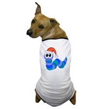 Cute Christmas Caterpillar Santa Dog T-Shirt