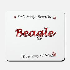 Beagle Breathe Mousepad