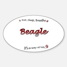Beagle Breathe Oval Decal