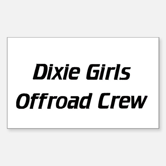 Dixie Girls - Rectangle Decal