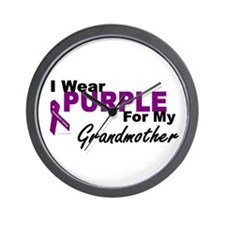 I Wear Purple For My Grandmother 3 (PC) Wall Clock