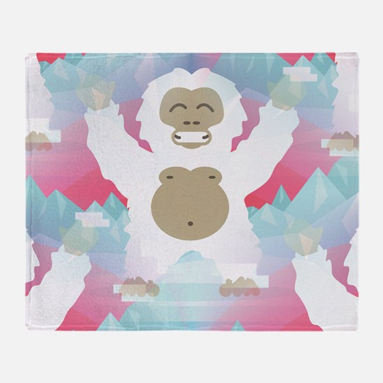 Cute Abominable snowman Throw Blanket