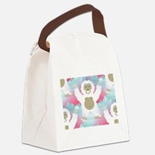pink yeti Canvas Lunch Bag
