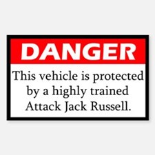 Attack Jack Russell Terrier Decal