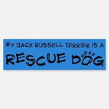 Rescue Dog Jack Russell Terrier Bumper Bumper Bumper Sticker