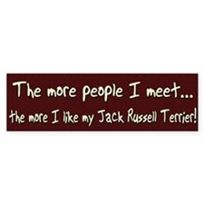 The More People Jack Russell Bumper Bumper Sticker