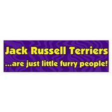 Furry People Jack Russell Terrier Bumper Bumper Sticker