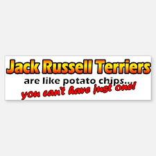 Potato Chips Jack Russell Bumper Bumper Bumper Sticker