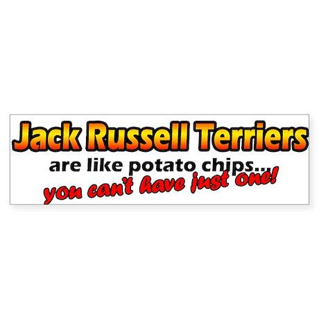 Potato Chips Jack Russell Bumper Sticker