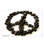 8 Coffee Bean Peace Sign Postcards