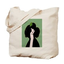 Woman In Hat Tote Bag