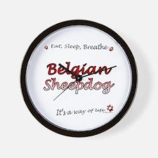 Belgian Sheep Breathe Wall Clock