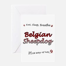 Belgian Sheep Breathe Greeting Card