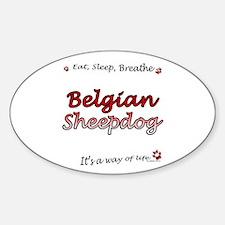 Belgian Sheep Breathe Oval Decal