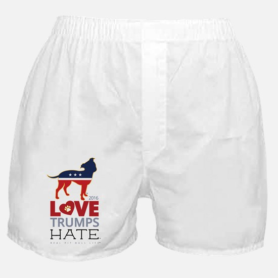 Cute Red nose pit bull Boxer Shorts