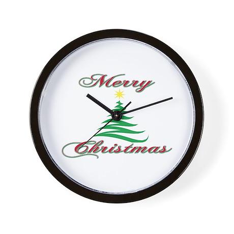 Merry Christmas Wall Clock
