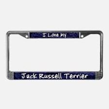 Funky Love Jack Russell License Plate Frame