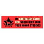 Australian Cattle Dog - Honor Students Sticker