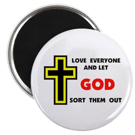 "LOVE EVERYONE 2.25"" Magnet (10 pack)"