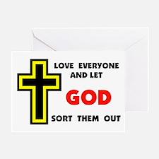 LOVE EVERYONE Greeting Card