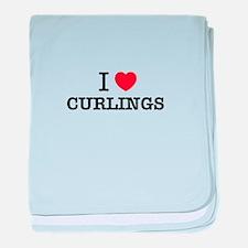 I Love CURLINGS baby blanket