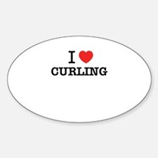 I Love CURLING Decal