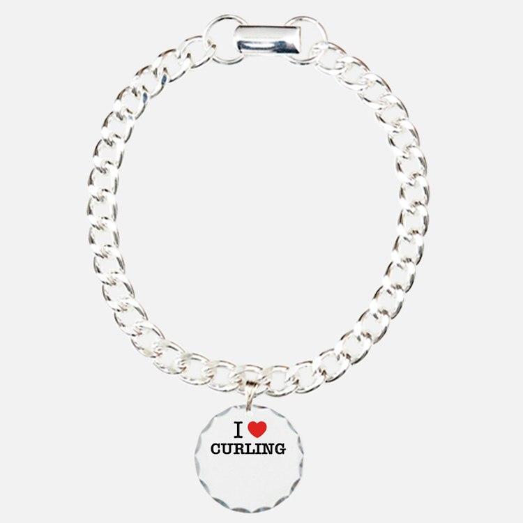 I Love CURLING Bracelet
